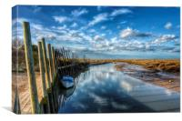 Blakeney harbour Norfolk, Canvas Print