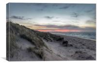 Last glimmer of sunset, Canvas Print