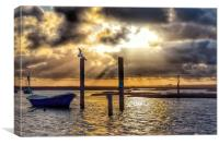 Sunset over Brancaster Staithe, Canvas Print