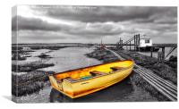 Standing out at the staithe , Canvas Print