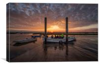 The perfect end to a perfect fishing trip! , Canvas Print