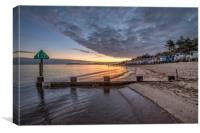Sunrise over beautiful Wells-next-the-Sea beach in, Canvas Print