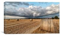 A cloudburst over Titchwell and Brancaster, Canvas Print