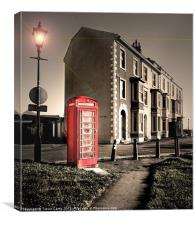 The Old Red Box, Canvas Print