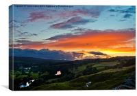 Teesdale Sunset, Canvas Print