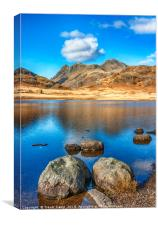 Langdale Pikes from Blea Tarn, Canvas Print
