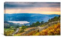 Windermere from Kirkstone, Canvas Print