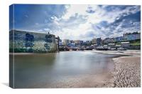 Tenby Harbour Midday Sun, Canvas Print