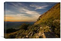 Last sunlight at Skirrid Mountain, Canvas Print