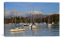 Sailboats in Bowness-on-Windermere, Canvas Print