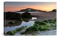 Bigbury-on-Sea and Burgh Island, Canvas Print