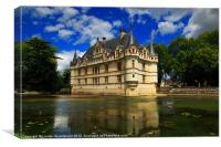 Chateau of Azay-le-Rideau, France, Canvas Print
