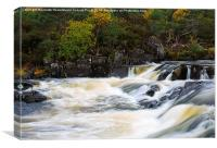 Glen Affric, view of the Affric River, Canvas Print