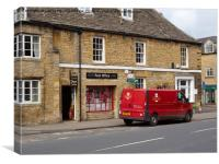 Post Office and Royal Mail van, Stow-on-the-Wold, Canvas Print