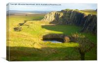 Walltown Crags, Hadrian's Wall, Northumberland, Canvas Print