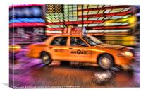 Times Square Taxi IV, Canvas Print