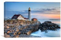 Portland Head Light Sunrise I, Canvas Print