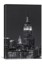 Empire State and Chrysler Buildings IV, Canvas Print