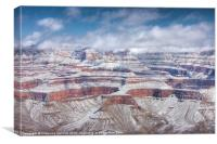 Grand Canyon in Winter, Canvas Print