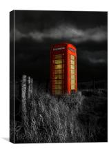 In the middle of nowhere, Canvas Print
