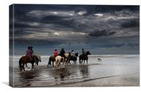 Druridge bay riders, Canvas Print
