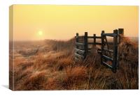 Moorland sunrise, Canvas Print