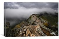 Striding edge helvellyn, Canvas Print