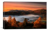 Grasmere mists, Canvas Print