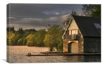 Boat house on windermere, Canvas Print