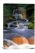 Rivington waterfall, Canvas Print