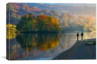 fishing on Rydal water, Canvas Print