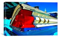 Car Rear Light, Canvas Print