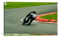 Racing bikes at Snetterton racetrack, Canvas Print