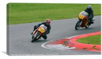 Racing bikes at Snetterton racetrack , Canvas Print