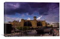 King's Cross in London, Canvas Print