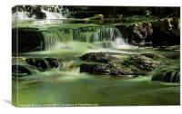 Smooth Water at Summerhills Force, Canvas Print