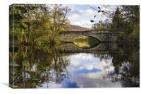 New Bridge at Calver, Canvas Print
