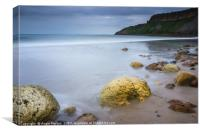 Cayton Bay Red Cliff Hole, Canvas Print