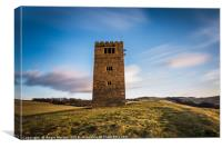 Strines Tower Boots Folly, Canvas Print