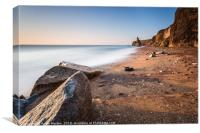 Blast Beach Seaham v3, Canvas Print