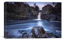 High Force Approaching Sunset, Canvas Print