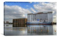 Millennium Mills London, Canvas Print
