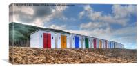 Woolacombe  Beach Huts, Canvas Print