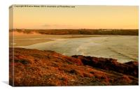 Crantock Beach, Canvas Print