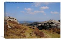 Hound Tor From Honeybag Tor, Canvas Print