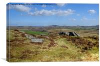 Hay Tor From Chinkwell Tor, Canvas Print