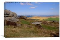 Hound Tor From Chinkwell Tor, Canvas Print