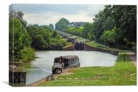 Caen Hill Locks, Canvas Print