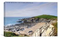 Fistral Beach and Towan Head, Canvas Print