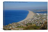 Chesil Beach Dorset , Canvas Print